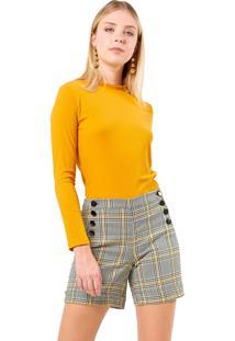 Blusa Mx Fashion Canelada Fredy Mostarda