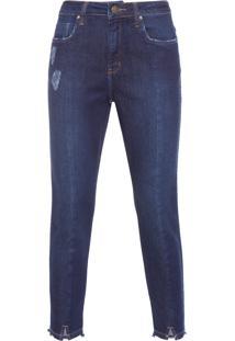 Calça Feminina Jeans Skinny - Azul