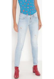 Jeans Skinny Destroyed- Azul Claro- Tritontriton