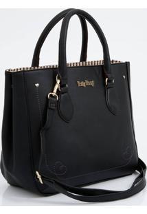 Bolsa Feminina De Mão Textura Betty Boop
