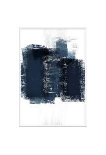Quadro 75X50Cm Abstrato Textura Artea Moldura Branca Com Vidro Oppen House