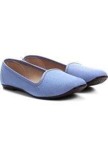 Sapatilha Moleca Sleeper Glitter Feminina - Feminino-Azul Claro