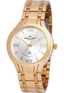 Relógio Backer 3637145F Si Feminino - Feminino-Dourado
