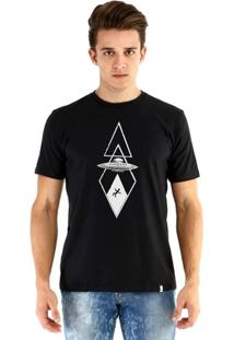 Camiseta Ouroboros Manga Curta Abduçãoalienigena - Masculino