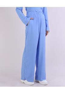 Calça De Pijama Feminina Mindset Com Bolsos Azul