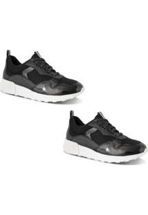 Kit 2 Pares Tênis Prime Shoes Jogger Sneaker Chunky Feminino - Feminino-Branco