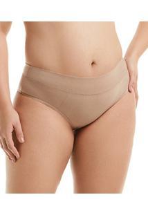 Calcinha Cotton Cós Duplo Mondress (2610E) Plus Size, Nude, Eg1