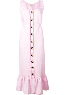 Nicholas Vestido Com Botões Frontal - Rosa