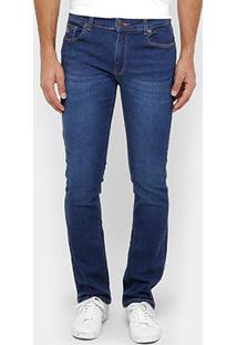 Calça Jeans Slim Lacoste Straight Fit Stone Masculina - Masculino