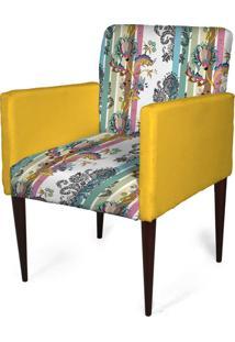 Cadeira Decorativa Sala Mademoiselle Plus Imp Digital 149 - Kanui