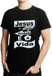 Camiseta Criativa Urbana Gospel Evangélica Religiosa Vida - Masculino
