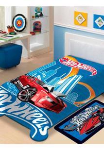 Cobertor Solteiro Jolitex Raschel Disney Azul Escuro