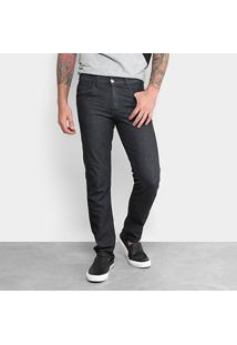 Calça Jeans Slim Preston Básica Masculina - Masculino-Preto