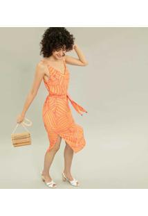Vestido Mídi Com Cinto Estampa Shell - Lez A Lez