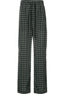 Ex Infinitas Off The Grid Checked Drawstring Trousers - Preto