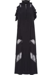 Vestido Madalena - Preto
