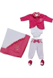 Enxoval Infantil Para Bebê Menina - Rosa Pink