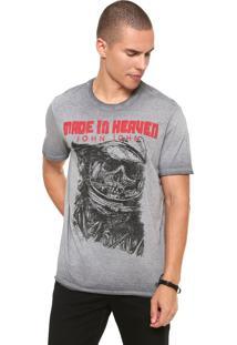 Camiseta John John Space Skull Cinza