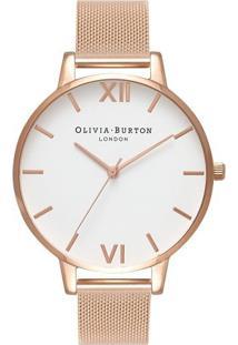 Relógio Olivia Burton Feminino Aço Rosé - Ob15Bd79