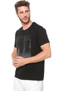Camiseta Aramis Estampada Preta