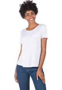 Blusa Lisa Com Bolso Taco - Feminino-Branco
