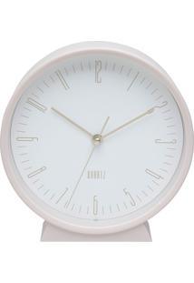 Relógio De Mesa Classical Clean Style Rosa E Branco 15X4X16 Cm Urban