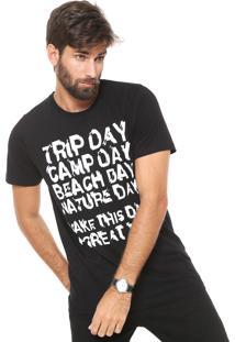 Camiseta Colcci Estampada Preta