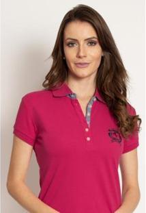 Camisa Polo Aleatory Feminina Piquet Lisa Candy - Feminino-Pink