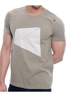 Camiseta Básica Oitavo Ato E-Mail Em Meia Malha - Masculino