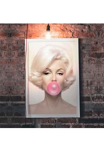 Quadro Decorativo Com Moldura Marilyn Bubble Branco