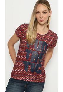"Camiseta ""Fantastic"" - Vermelha & Azul Marinho - My My Favorite Things"