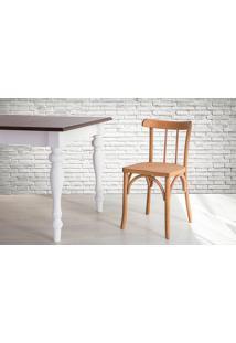 Cadeira De Madeira Torneada Com Encosto E Assento Anatômico Jatobá Justine - 43X47,5X78,5 Cm