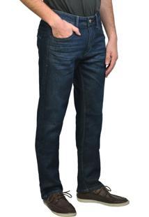 Calça Jeans Reta Escura Yck'S Azul