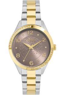 07890bf41e9 Relógio Digital Bicolor Dourado feminino
