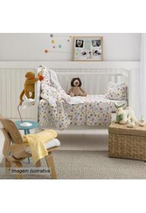 Edredom De Circo Baby- Branco & Amarelo- 100X140Cmsantista
