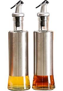 Kit 2 Porta Azeite/Vinagre Em Inox Uny Gift 300Ml - Prata - Dafiti