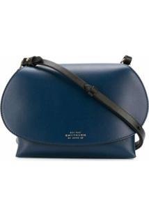 Smythson Bolsa Transversal Pillow - Azul