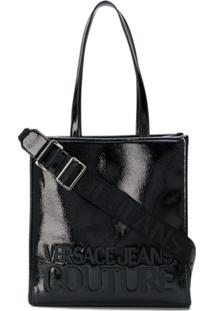 Versace Jeans Couture Textured Logo Tote - Preto