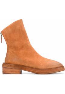Marsèll Ankle Boot Sughero Com Salto Bloco - Marrom