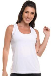 Regata Com Proteção Solar Sandy Fitness Geometry - Feminino-Branco