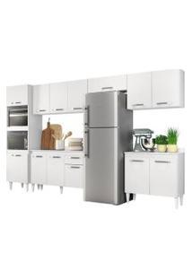 Cozinha Modulada 6 Módulos Composiçáo 1 Branco - Lumil Móveis