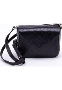 Bolsa Shoulder Bag Couro Preta