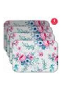 Jogo Americano Wevans Floral Premium Kit Com 4 Pçs