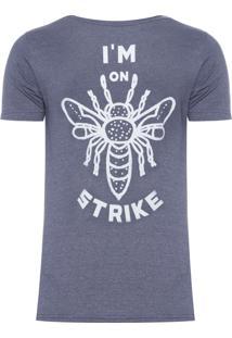 Camiseta Masculina I'M On Strike - Cinza