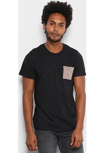 Camiseta Redley Botone Bolso Color Masculina - Masculino