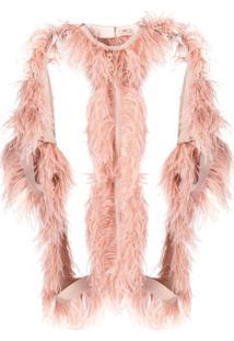 Nº21 Jaqueta Estruturada Com Plumas - Rosa