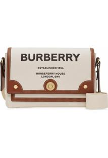 Burberry Bolsa Transversal Com Estampa Horseferry - Natural/Tan