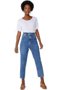 Calça Jeans Slim Com Elástico Na Cintura