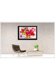 Quadro Decorativo Com Poster Tema Abstrato 56 X 44 Cm