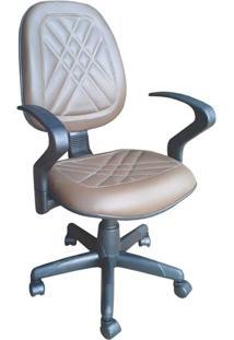 Cadeira Executiva Alta Giratória Ce-02Gpbg Couro Ecológico Marrom Ce508 Pethiflex